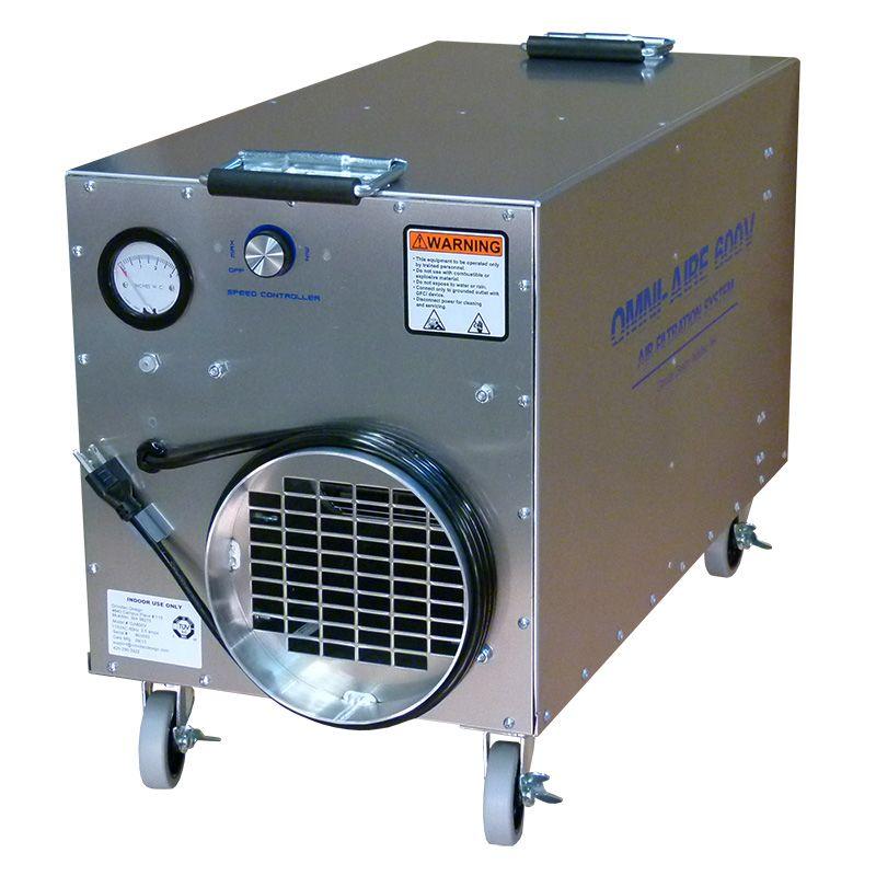 Omniaire 600v Compact Hepa Negative Air Machine By Omnitec Design Asbestos Removal Air Machine Negativity