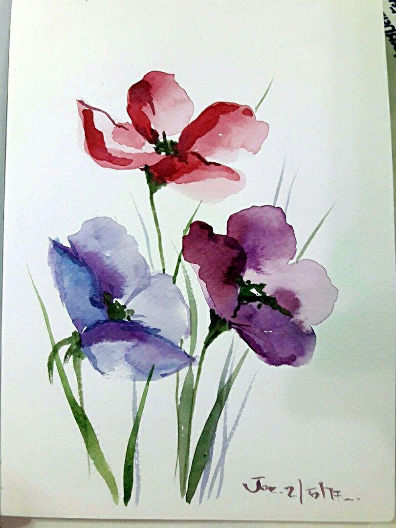 Aquarell Blumen Watercolor Flowers Paintings Watercolor Flowers Watercolor Paintings For Beginners