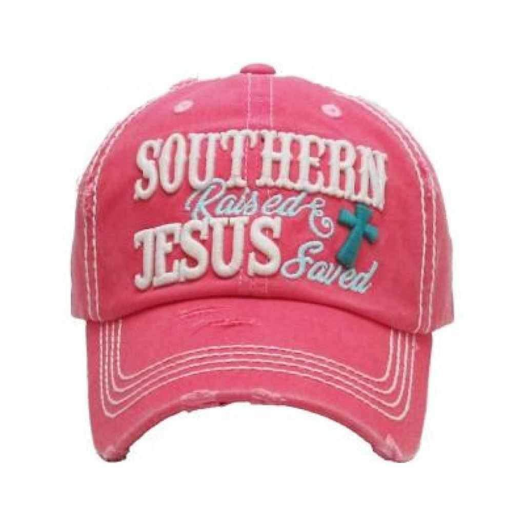 Southern Raised Jesus Saved Vintage Distressed Trucker Hat Trucker Hat Hats For Women Christian Hats