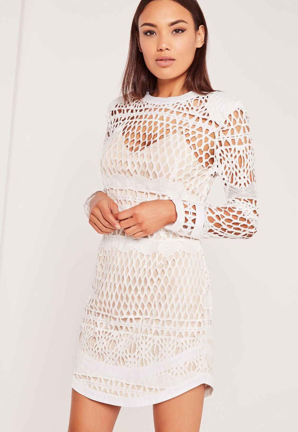 Long Sleeve Lace Bodycon Dress White Missguided Women Dress Online Sleeveless Mini Dress Lace Bodycon Dress Long Sleeve [ 1680 x 1160 Pixel ]