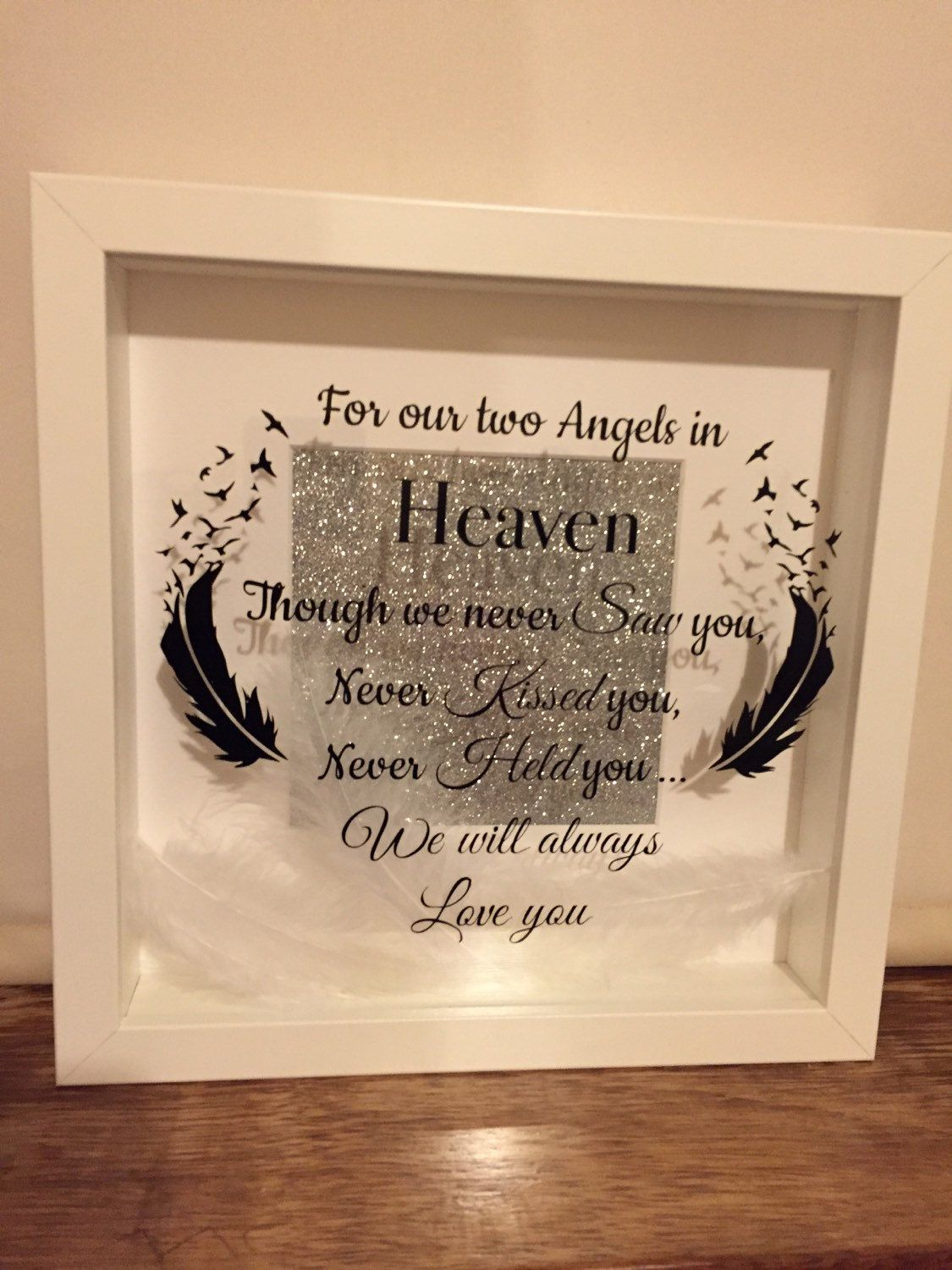 twins multiple baby loss memorial frame lost angel by kearneygifts
