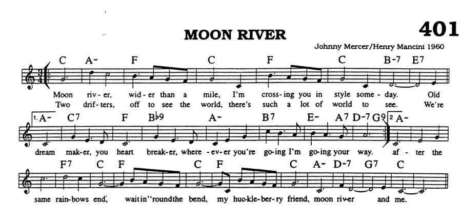 moon river audrey hepburn chords - Google Search | Music Is My Life ...