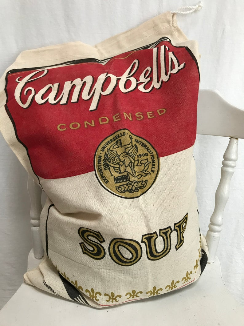 Vintage Campbell S Soup Canvas Bag New Old Stock Etsy Etsy Bag Campbell Soup Canvas Bag