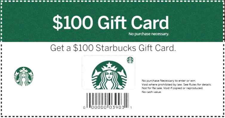 Get your card 1 per person starbucks card
