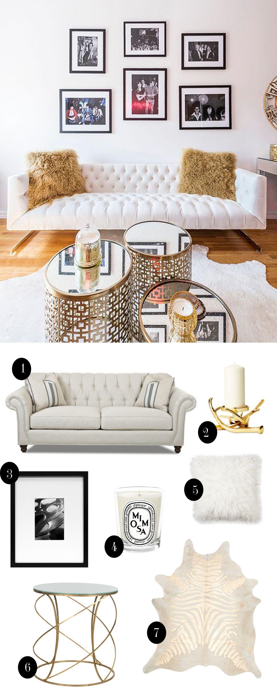 Online Room Remodel Design: Get The Look: Glam Living Room