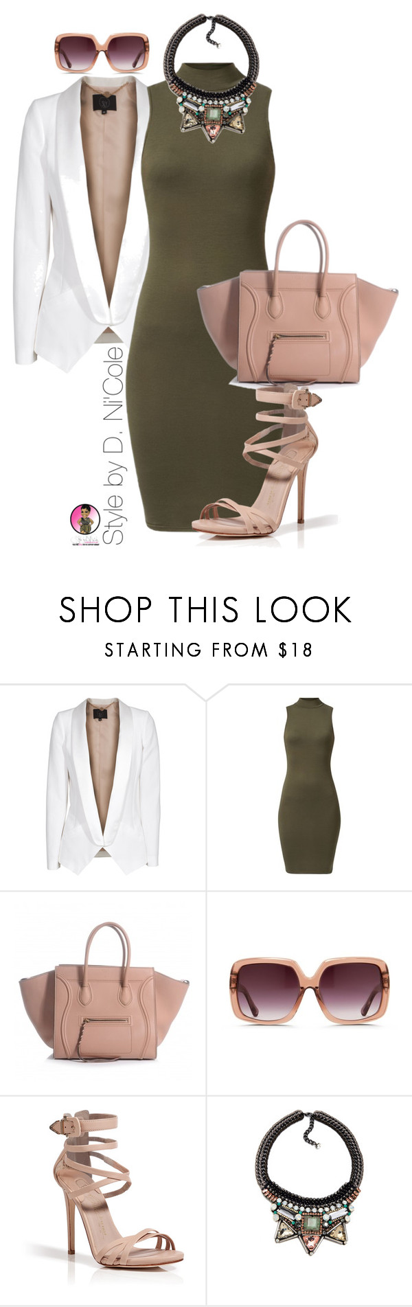 """""""Untitled #2358"""" by stylebydnicole ❤ liked on Polyvore featuring SLY 010, Matthew Williamson, Le Silla and Nocturne"""