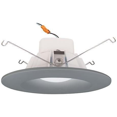 5 6 Cyber Tech 12 Watt 3000k Led Retrofit Trim In Nickel 26v27 Lamps Plus Lamps Plus Lamp Led