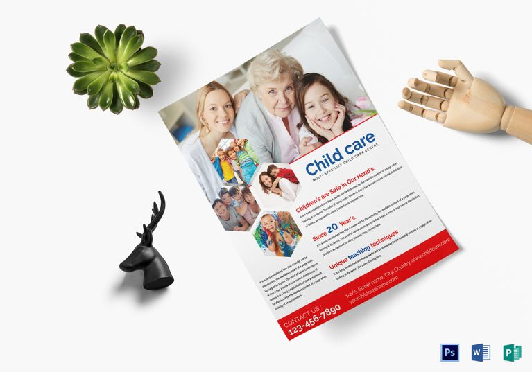 Child Care Flyer Template   Design Flyer Templates   Pinterest ...