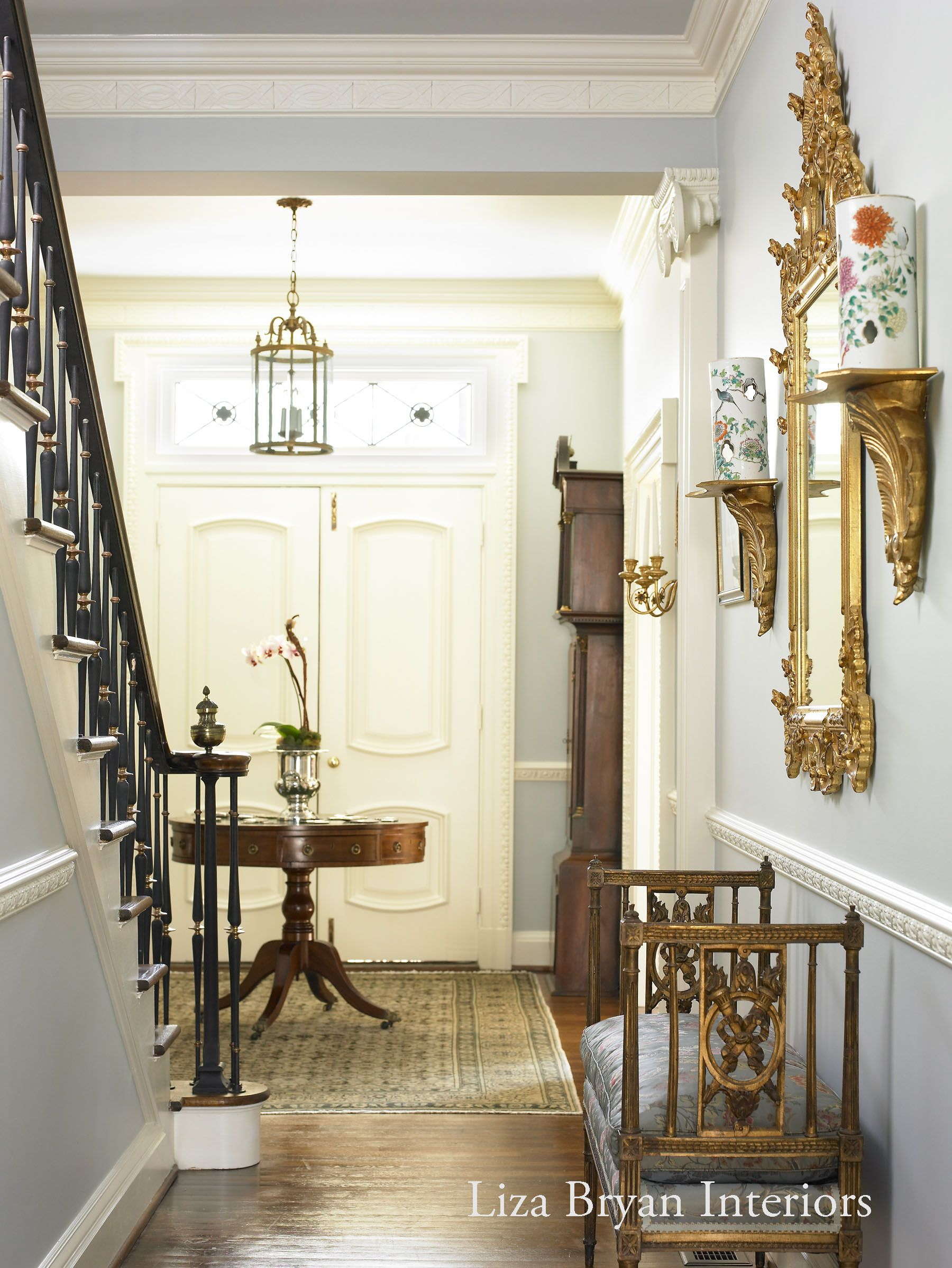 Entry hallway furniture  Foyer  Liza Bryan Interiors  Atlanta Residence   Pinterest