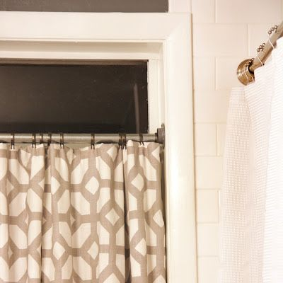 Bathroom Re Do Part 2 Cafe Curtain Rods Mobile Home Repair Home