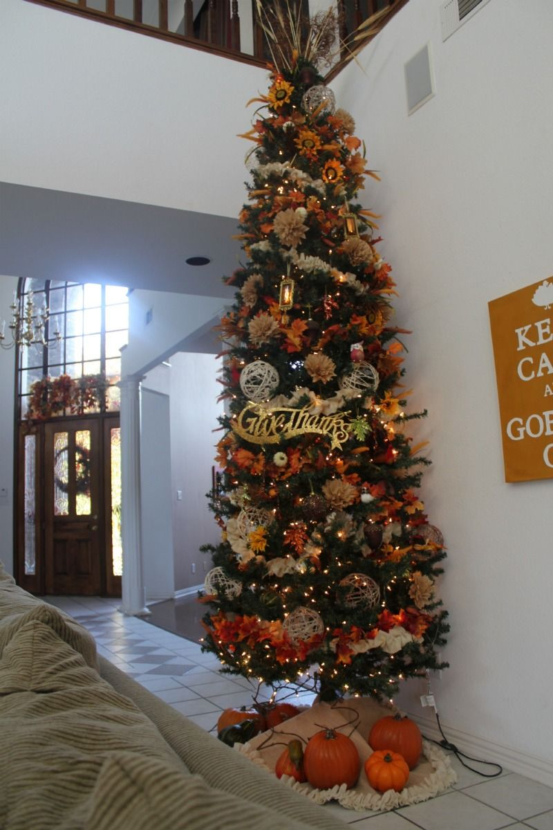 I May Need To Do This Fall Thanksgiving Decor Fall Christmas Tree Thanksgiving Tree