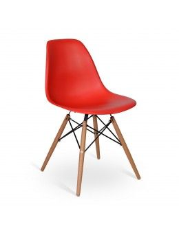 Chaise Eames DSW Style Rouge