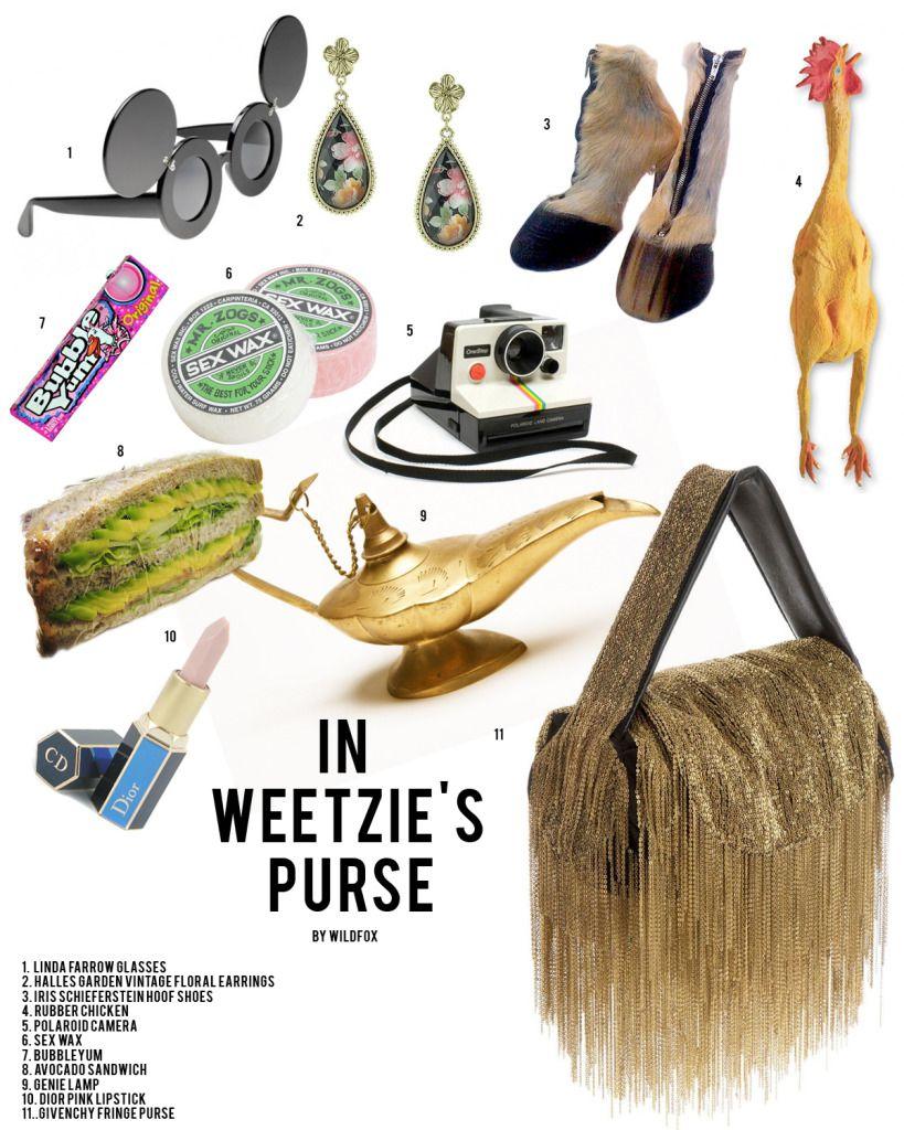 Weetzie Bat - inside her purse