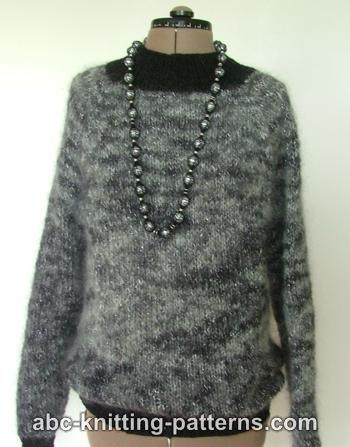 Circular Knit Mohair Sweater:#knit #knitting #free #pattern #freepattern #freeknittingpattern #knittingpattern
