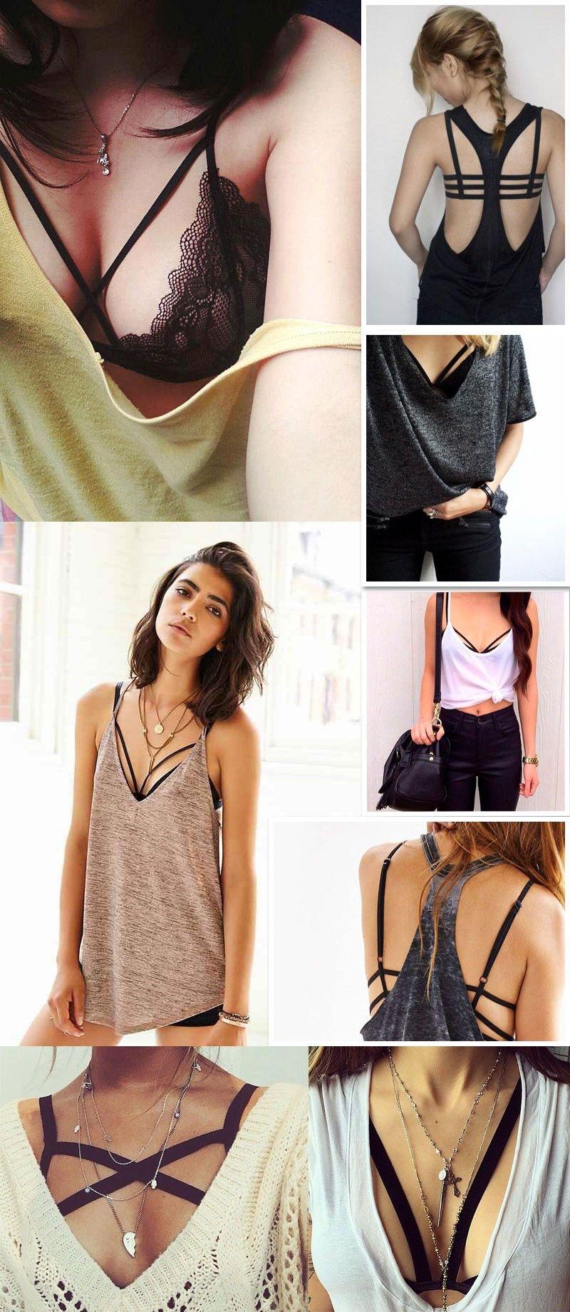 d5c826343bd2 Top Strappy Bra: Pra Ficar Charmosa! | outfits | Ropa, Lencería sexy ...
