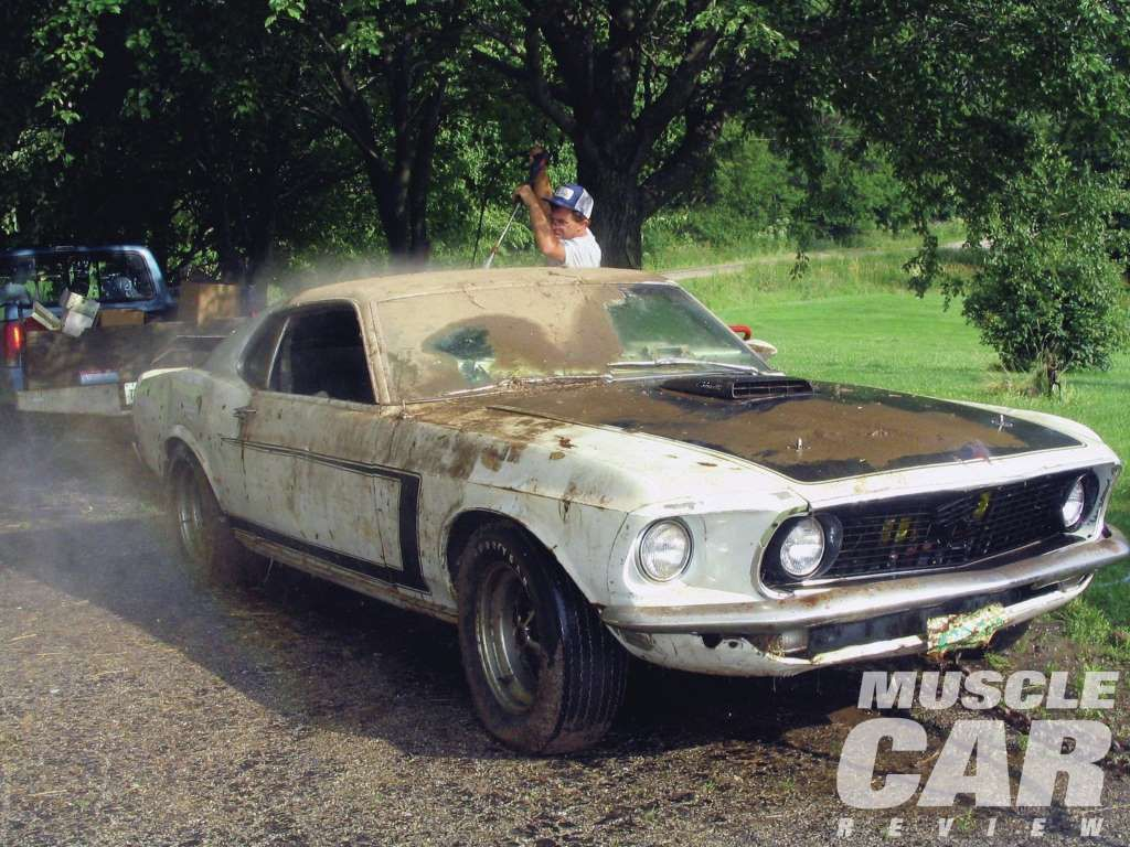 1969 ford mustang boss 302 in a barn prototype found