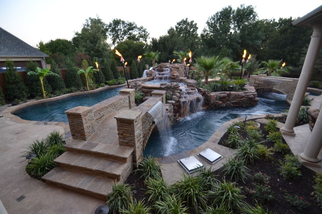Lazy River Swimming Pools | Colleyville Residential Lazy River   FARLEY POOL  DESIGNS