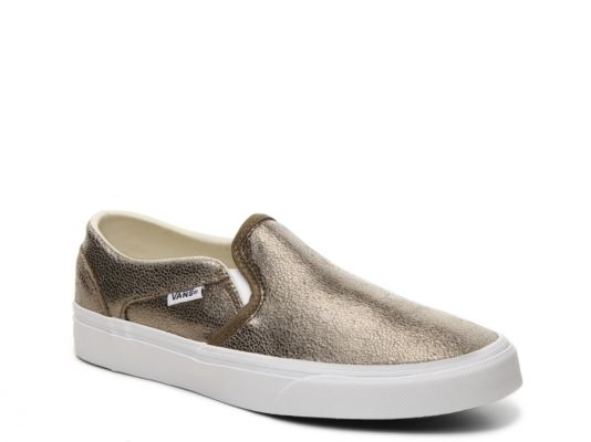 3642c20287 Women s Vans Asher Metallic Slip-On Sneaker - - Gold Metallic ...