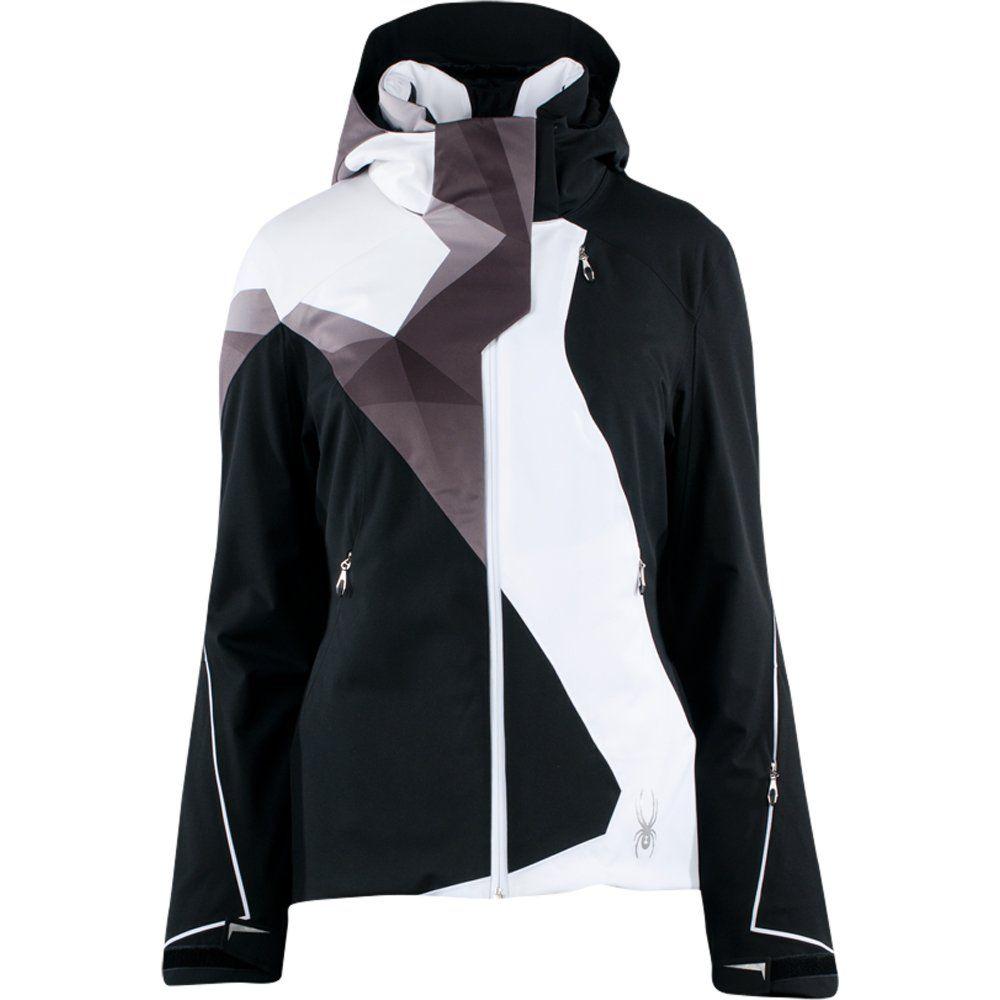 d5cb77219 Spyder Volt Insulated Ski Jacket (Women's) - Black/White | SKI Style ...
