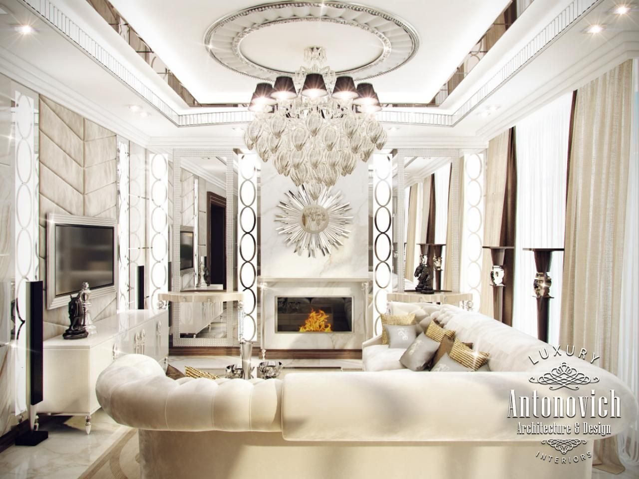 Villa interior design in dubai elegant villa in abu dhabi for Villa interior design dubai