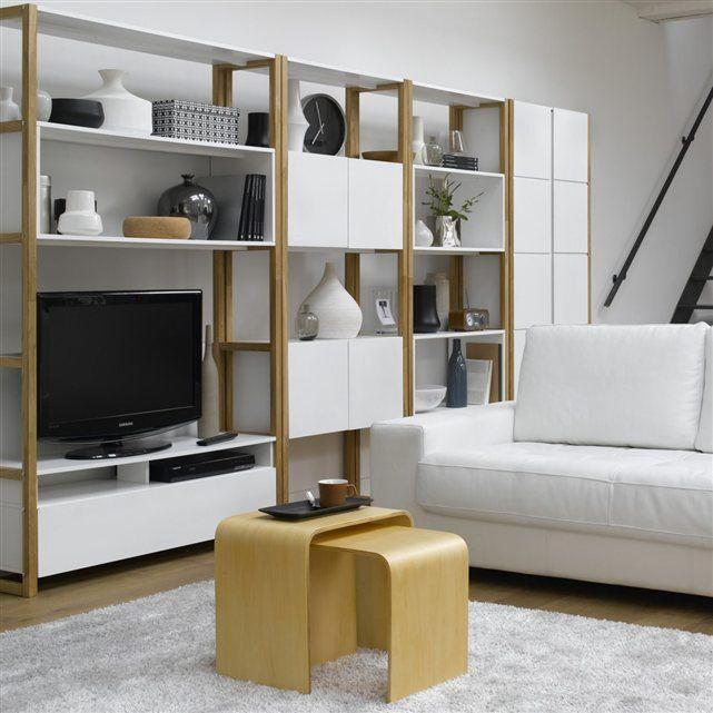 Armoire bibliothèque de rangement, compo La Redoute Interieurs La - idee de rangement garage