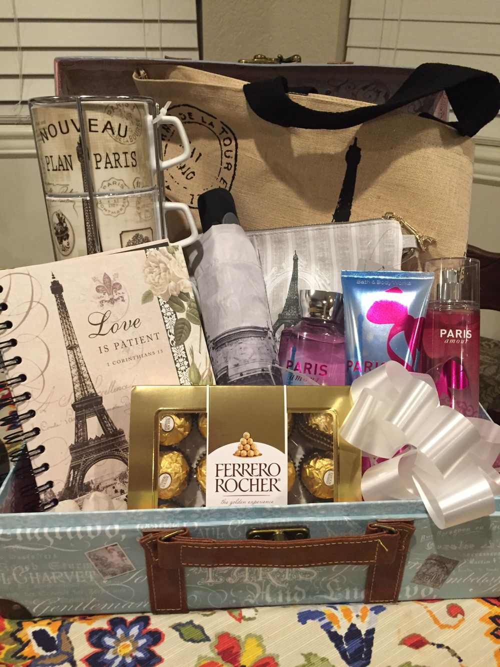 Paris Gift Basket Love This Idea Thinking About Putting One