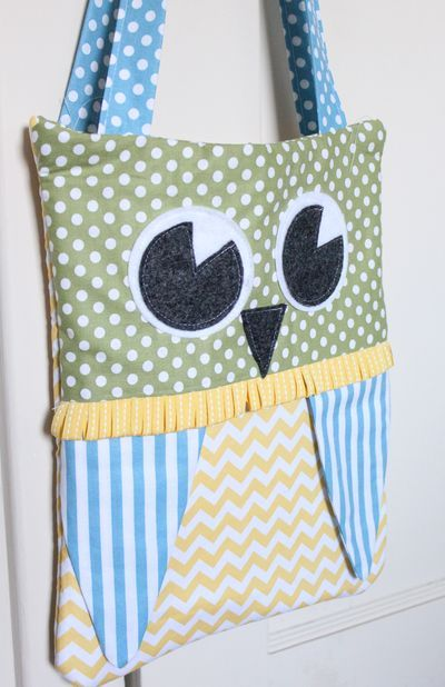 Heather Summers Owl Bag From Su Fabric Sorry Not Crochet Crochet