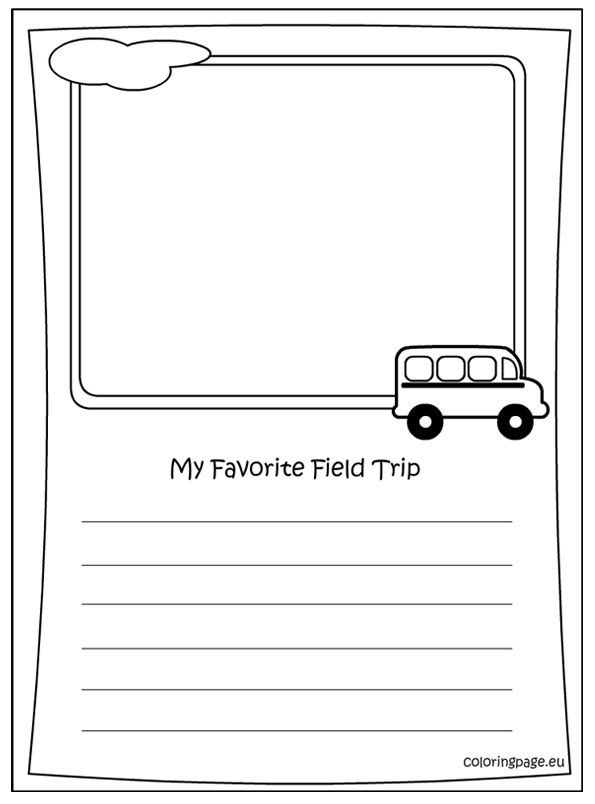 memory book my favorite field trip coloring coloring page