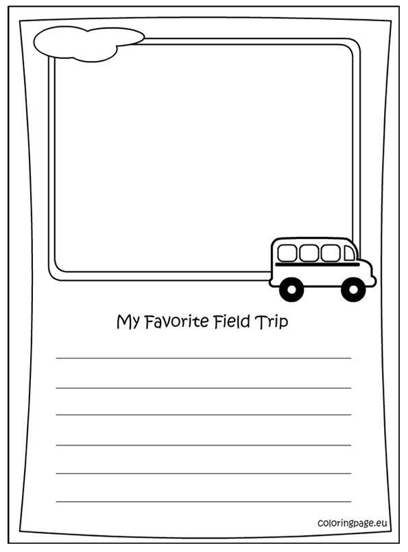 Memory Book My Favorite Field Trip Coloring Field Trip Memory