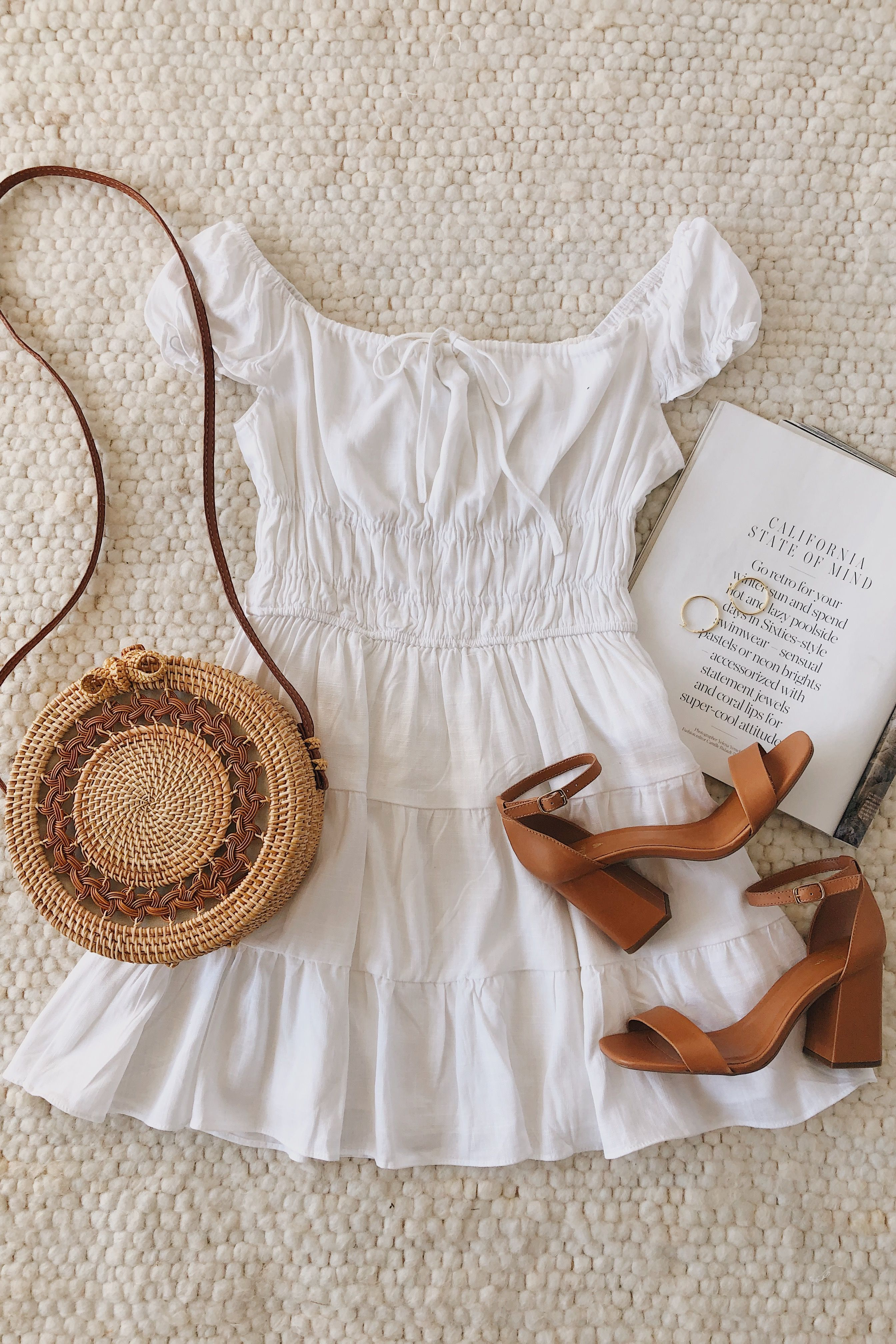 Good As New White Cap Sleeve Tiered Mini Dress Mini Dress Outfits Fashion Cute Casual Outfits [ 4032 x 2688 Pixel ]