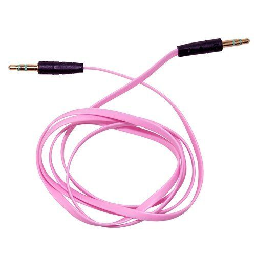3ft 3 5mm Male M M Stereo Plug Jack Audio Flat Extension Cable For Phone Pc Mp3 Pink Laptop Parts Store By Laptop Parts Laptop Parts Pink Laptop Jack Audio