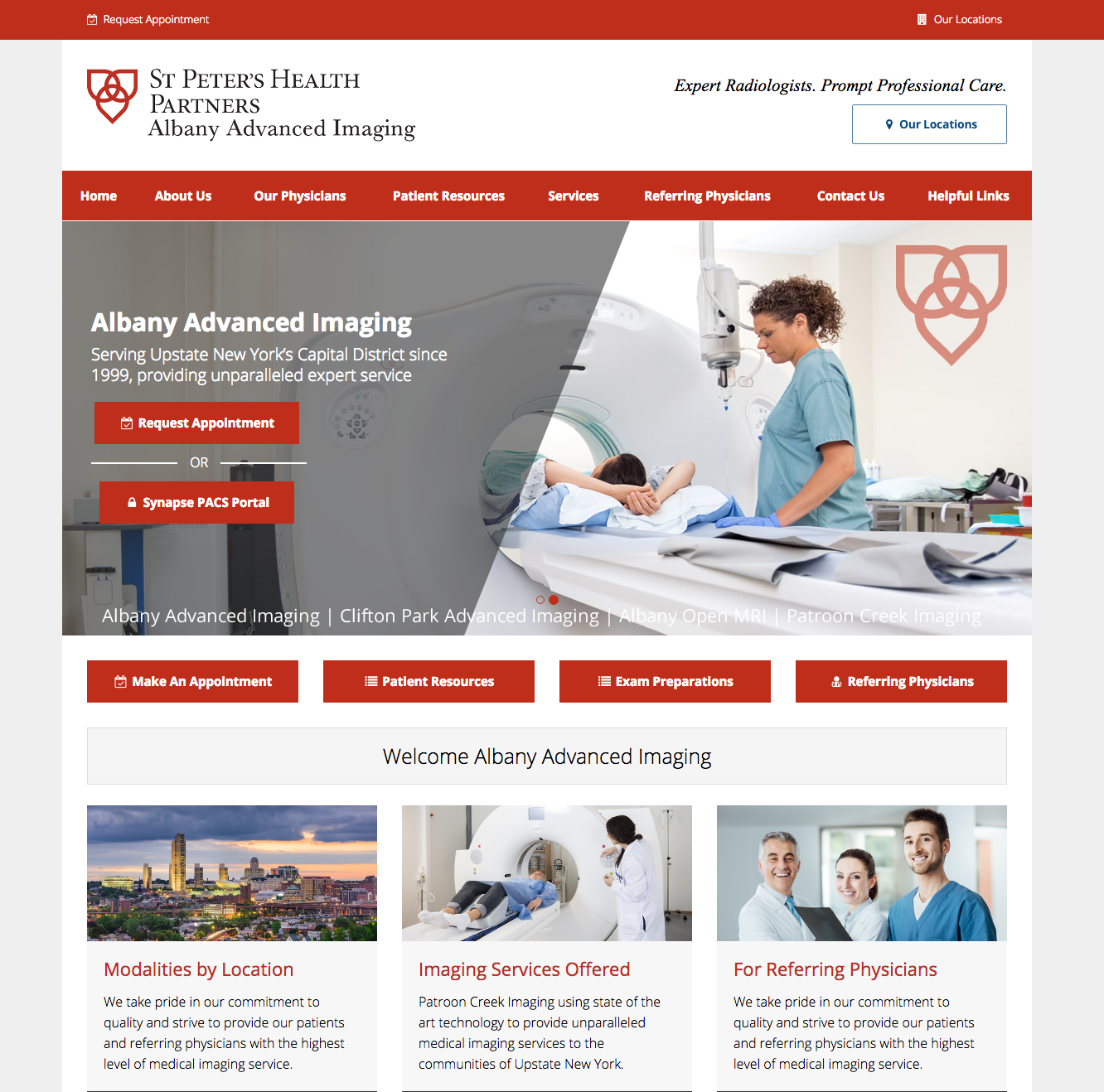 Pin by Medical Website Design on Radiology Website Designs | Clifton