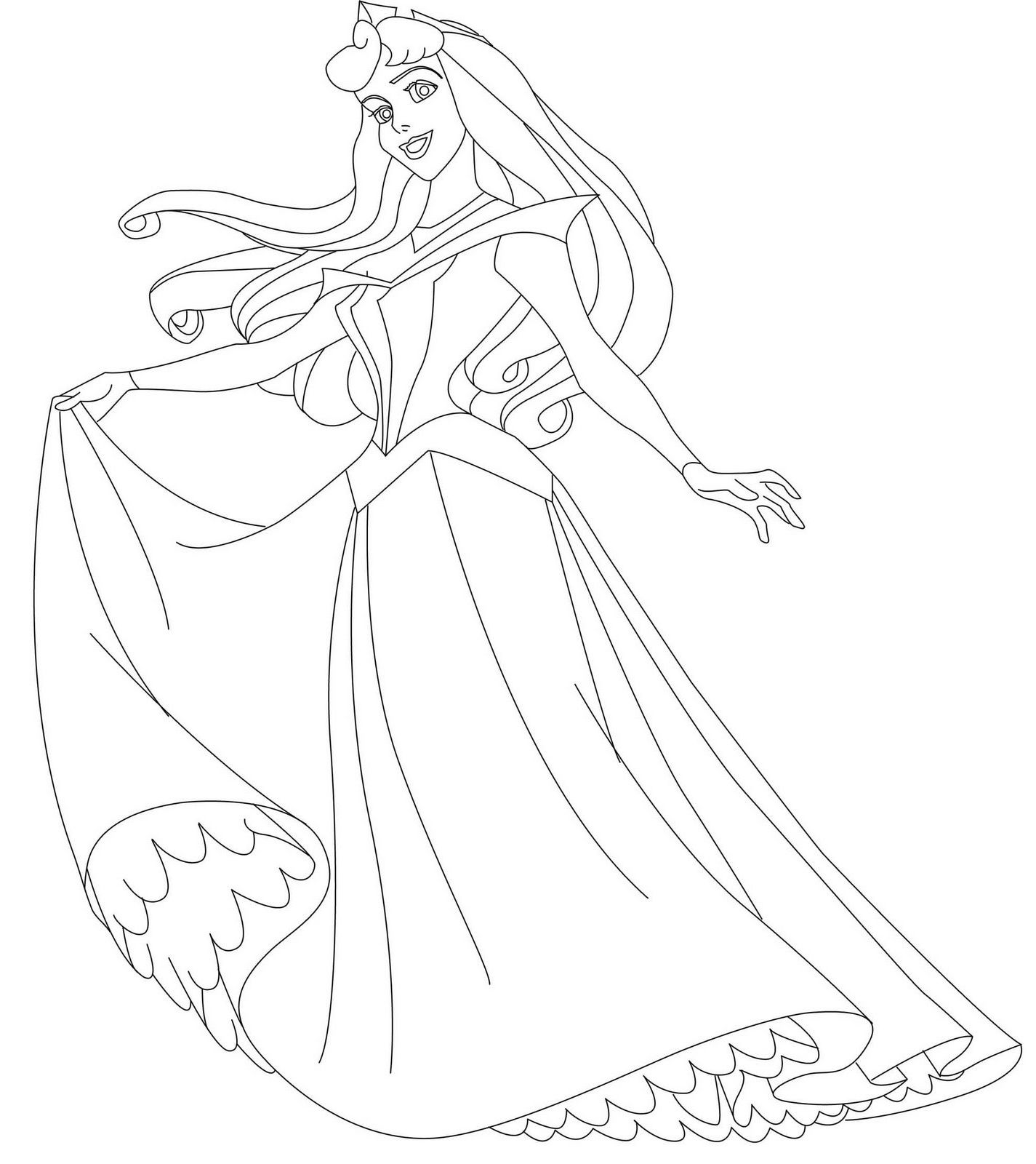 Sleeping Beauty Coloring Pages Princess Make For A Great Children Activity