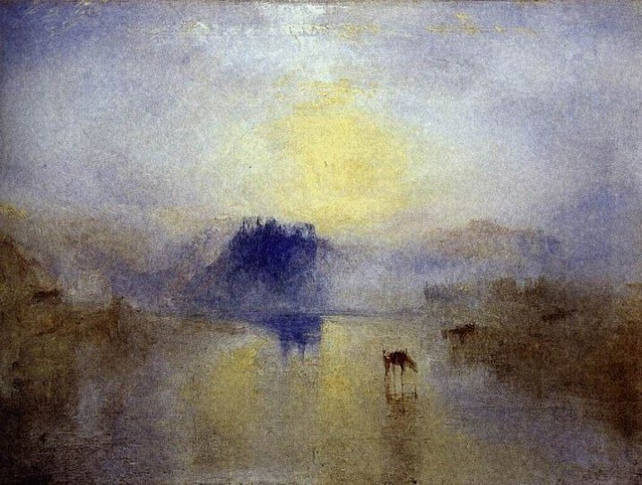 William Turner. Amanecer en el castillo de Norham. 1845