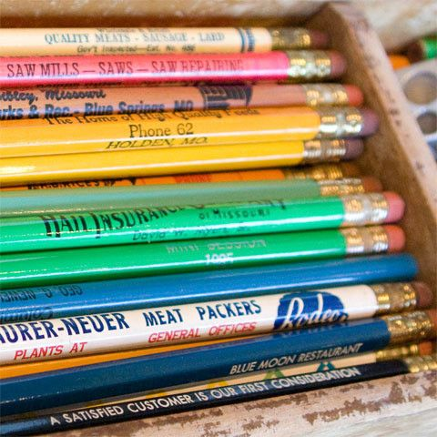 Back to school must haves  pencils.
