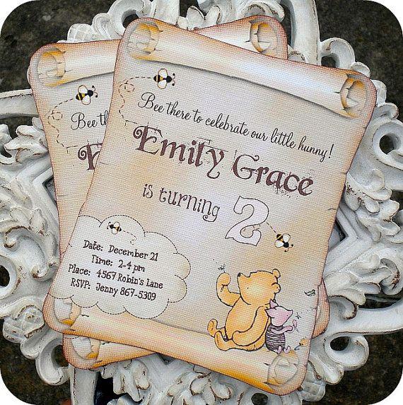 82dc5b63685ce3efddf007b7fd57de48 classic winnie the pooh invitations set of 10 classic pooh,Vintage Winnie The Pooh Invitations