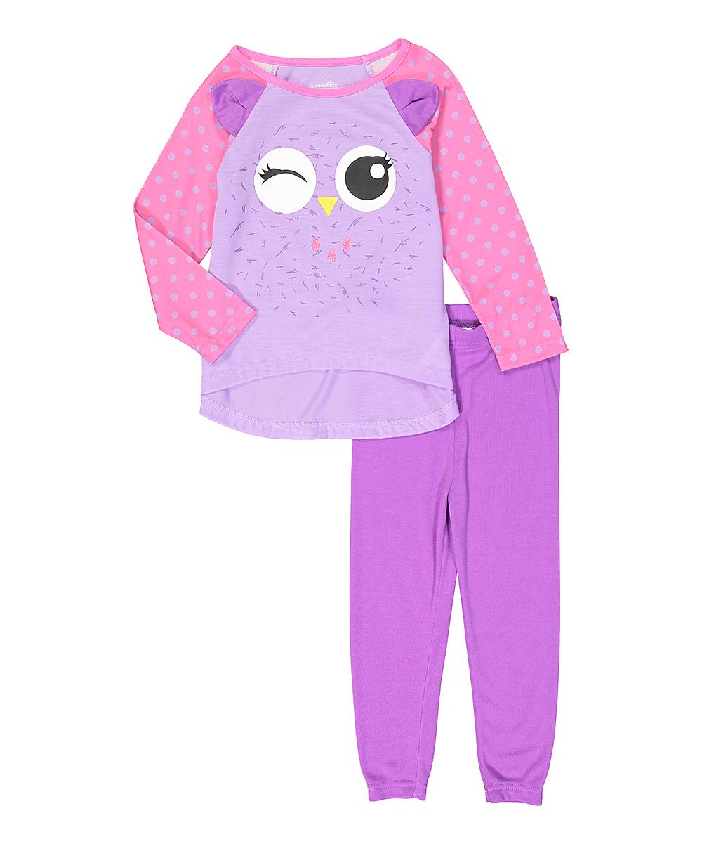 60aec016e Pink   Purple Owl Pajama Top   Bottoms - Infant Toddler   Girls ...