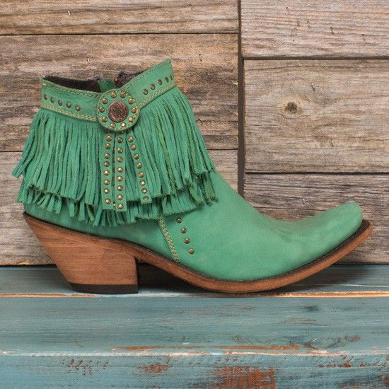 Liberty Black Turquoise Fringe Bootie | Boots boots and more boots ...
