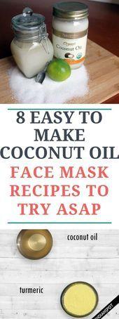 8 Easy To Make Face Oil Recipes With Coconut Oil- 8 fáceis de fazer receitas de…
