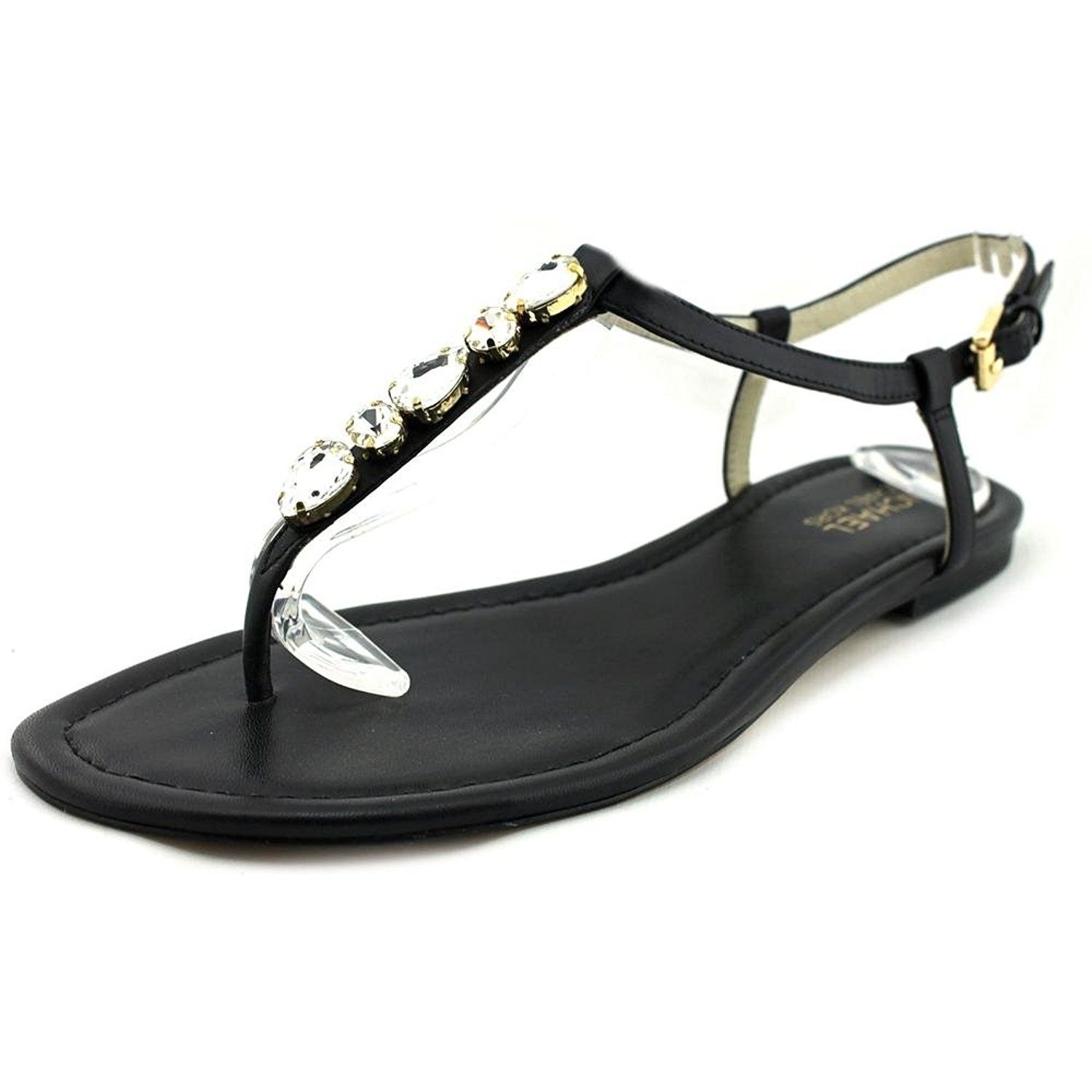 8fa5ab71c790 MICHAEL Michael Kors Women s Jayden Leather Jeweled Flat Thong Sandals    You can find out more details at the link of the image.