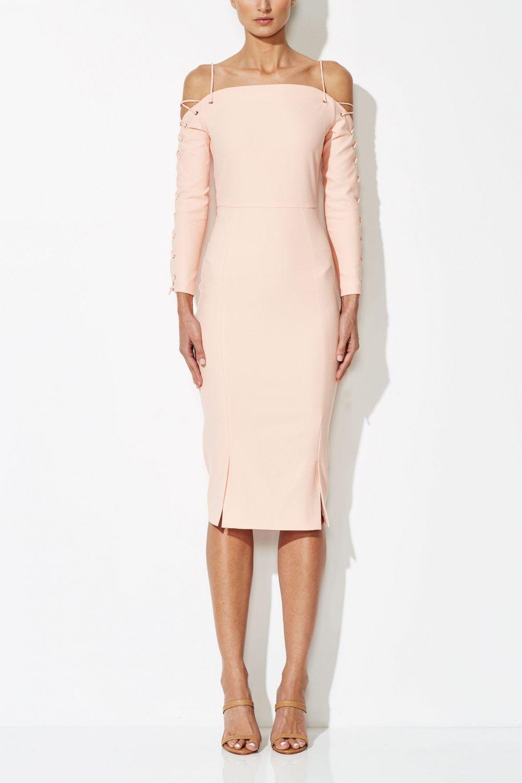 Viola Cross 3/4 Dress. A midi length dress by