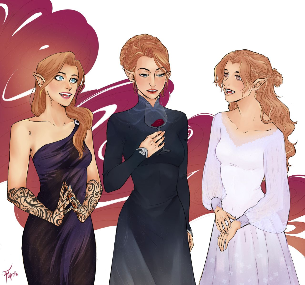 Archeron Sisters With Images Feyre And Rhysand