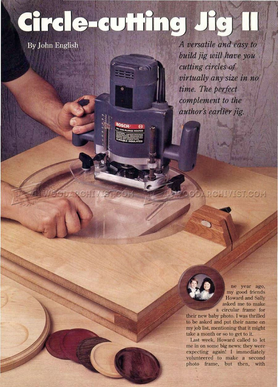 2346 Router Circle Cutting Jig Plans Router Workshop Routers