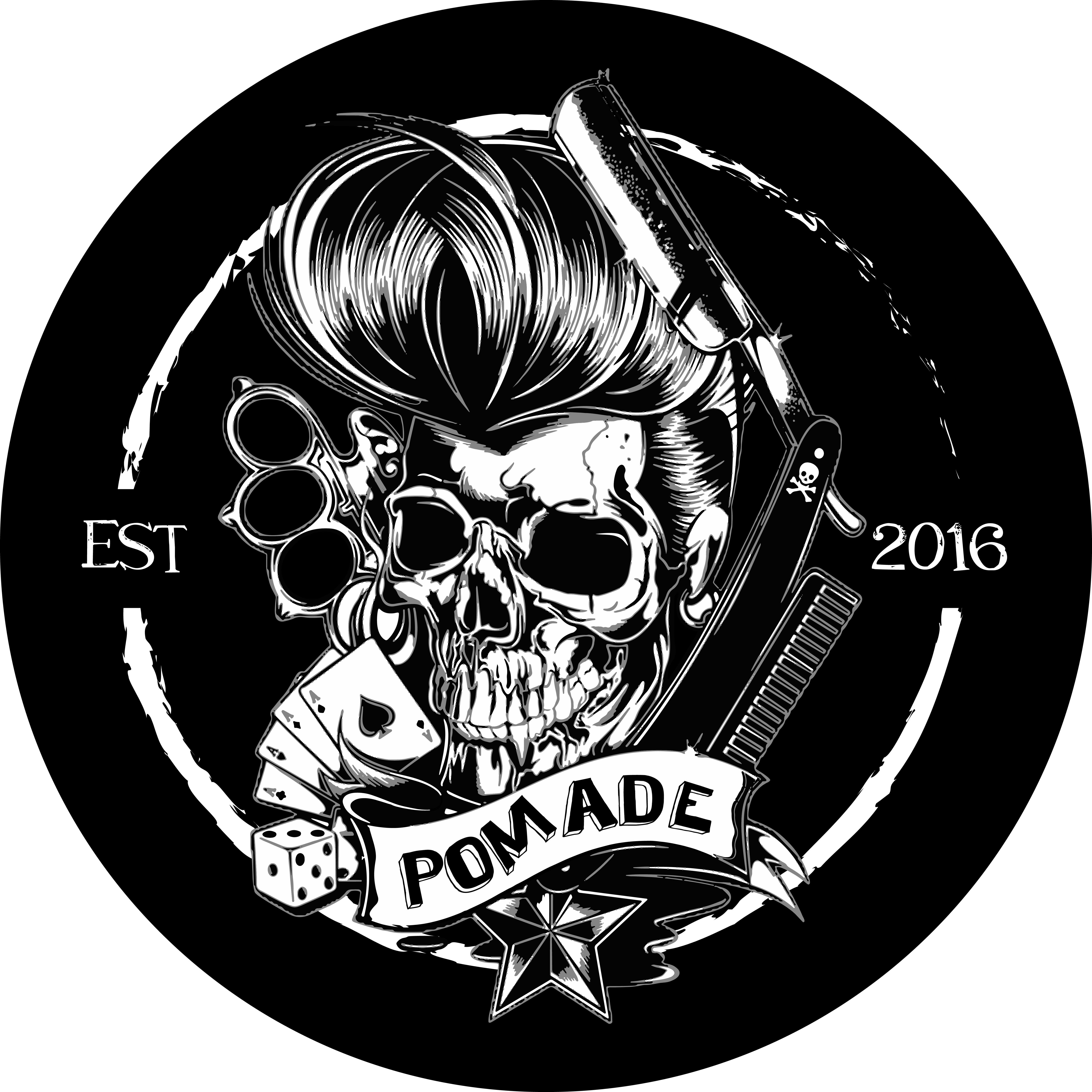 pomade logo Desain, Tengkorak, dan Seni