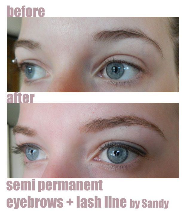 Semi permanent eyebrows and eyeliner combo lash line for Japanese tattoo eyeliner