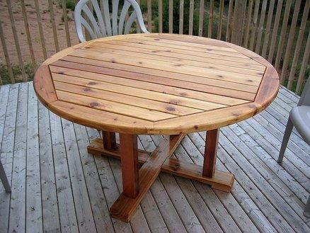 Admirable Round Wood Patio Table In 2019 Round Patio Table Wood Gmtry Best Dining Table And Chair Ideas Images Gmtryco