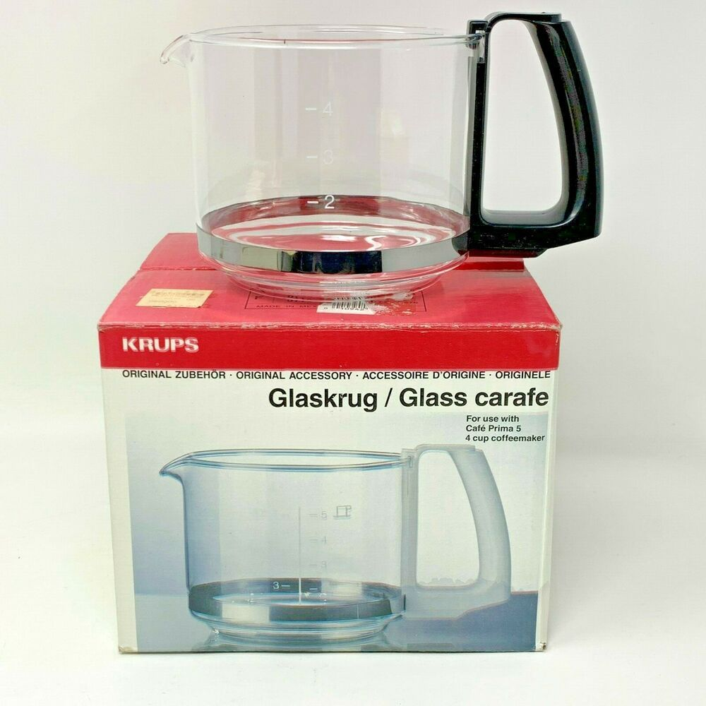 New Nos Krups Glaskrug Glass Carafe For Cafe Prima 5 4 Cup Coffee Pot Black Krups Glass Carafe Krups Coffee Pot