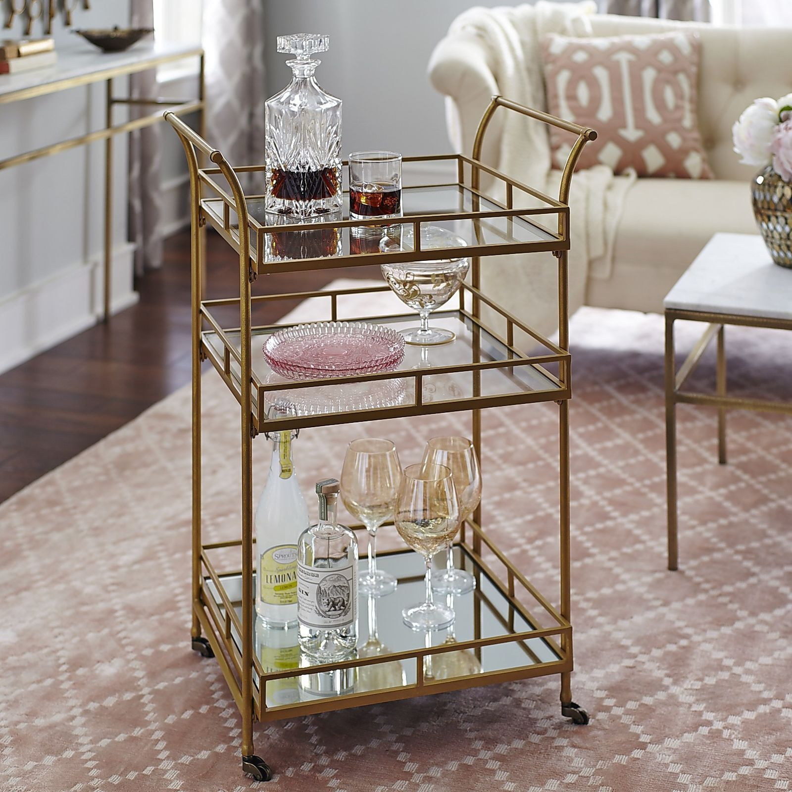 golden square bar cart in 2019 home decor bar cart gold bar cart bar cart decor. Black Bedroom Furniture Sets. Home Design Ideas