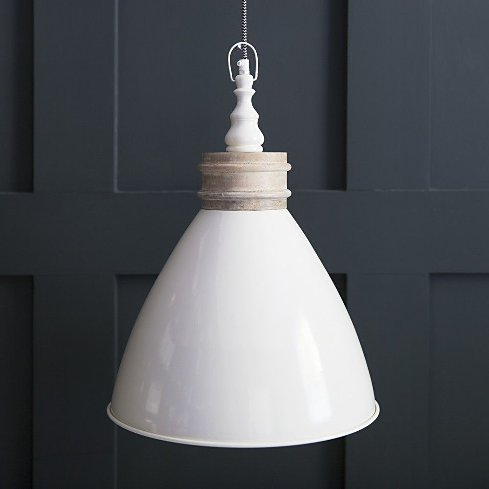 Oslo Industrial Ceiling Light In Ivory Ceiling Pendant