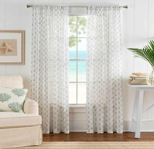 Coastal Nautical Window Treatments Coastal Living Rooms Nautical Decor Bedroom Panel Curtains